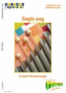Simple Song Franck Dentresangle Partition Vibraphone - laflutedepan