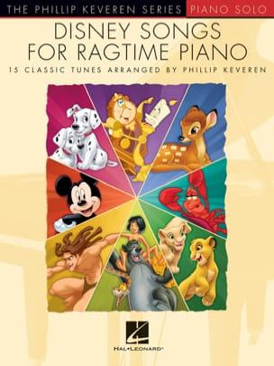 Disney Songs for Ragtime Piano DISNEY Partition Jazz - laflutedepan