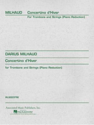 Concertino D' Hiver MILHAUD Partition Trombone - laflutedepan