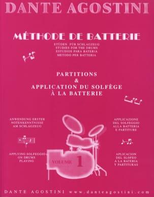 Méthode de batterie volume 1 Dante Agostini Partition laflutedepan