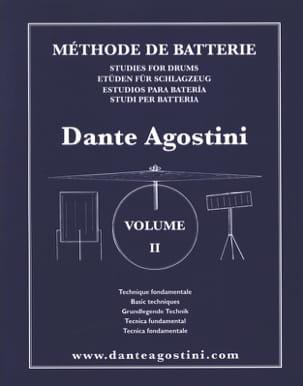 Méthode de batterie Volume 2 Dante Agostini Partition laflutedepan