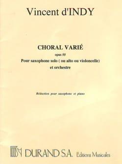 Choral Varié Opus 55 Vincent D' Indy Partition laflutedepan