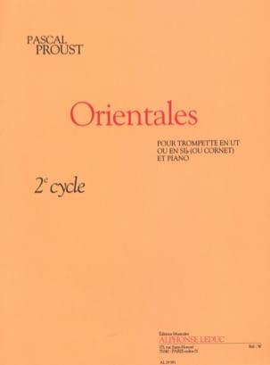 Orientales Pascal Proust Partition Trompette - laflutedepan