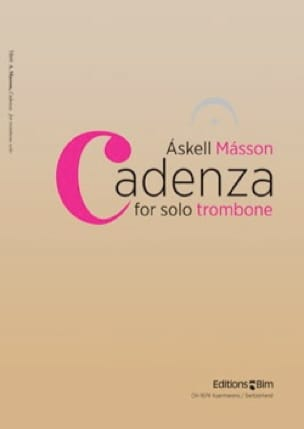 Cadenza - Askell Masson - Partition - Trombone - laflutedepan.com