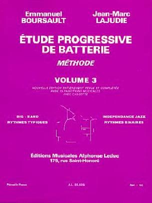 Etude Progressive de Batterie - Méthode Volume 3 laflutedepan