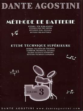 Méthode de batterie volume 3 - Dante Agostini - laflutedepan.com