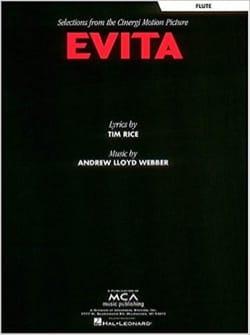 Evita Andrew Lloyd Webber Partition Flûte traversière - laflutedepan
