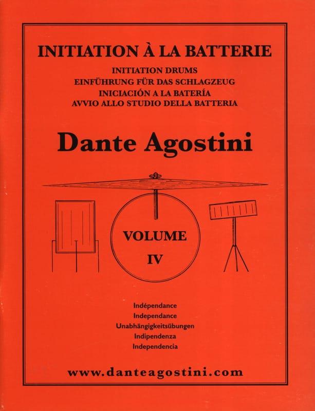 Méthode de batterie volume 4 - Dante Agostini - laflutedepan.com
