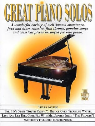 Great piano solos - The white book Partition Jazz - laflutedepan