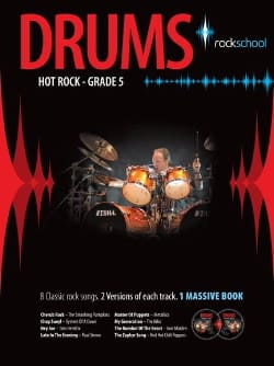 Drums Hot Rock Grade 5 - Rockschool Partition laflutedepan