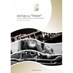 Let it go from Frozen - Clarinet quartet DISNEY Partition laflutedepan