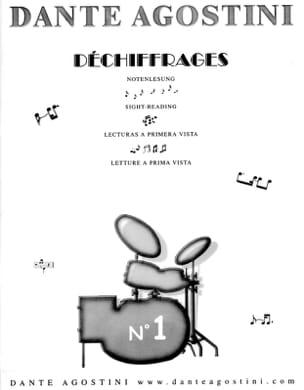 Déchiffrages volume 1 Dante Agostini Partition Batterie - laflutedepan