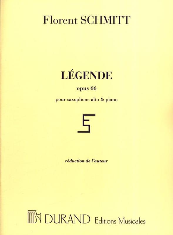 Légende Opus 66 - Florent Schmitt - Partition - laflutedepan.com