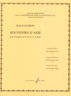Souvenirs D'asie René Gaudron Partition Trompette - laflutedepan