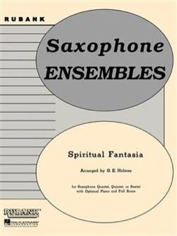 Spiritual Fantasia G.E. Holmes Partition Saxophone - laflutedepan