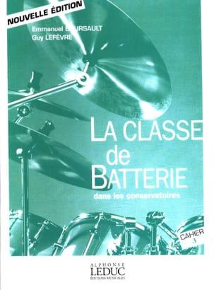 La Classe de batterie dans les conservatoires Cahier 3 laflutedepan