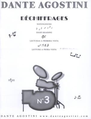 Déchiffrages volume 3 Dante Agostini Partition Batterie - laflutedepan