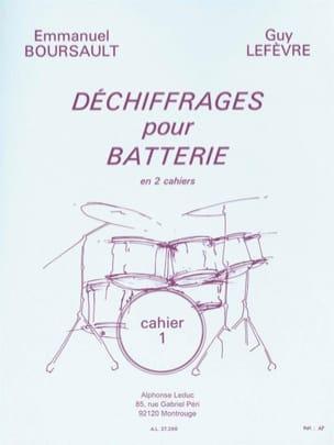 Déchiffrages Pour Batterie Volume 1 BOURSAULT - LEFEVRE laflutedepan