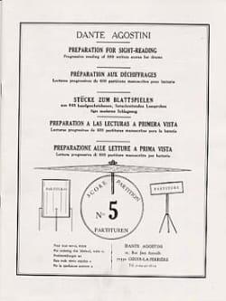 Déchiffrages volume 5 Dante Agostini Partition Batterie - laflutedepan