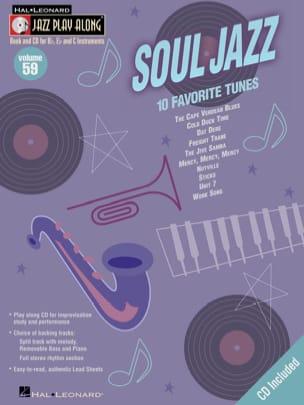 Jazz play-along volume 59 - Soul Jazz Partition Jazz - laflutedepan