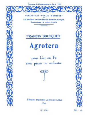 Agrotera Francis Bousquet Partition Cor - laflutedepan
