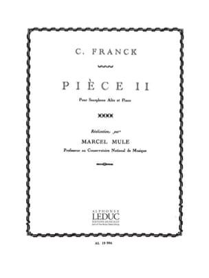 Pièce II Franck Partition Saxophone - laflutedepan