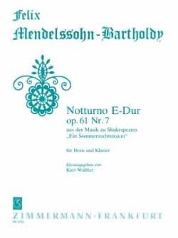 Notturno E-Dur Opus 61 Nr. 7 MENDELSSOHN Partition Cor - laflutedepan