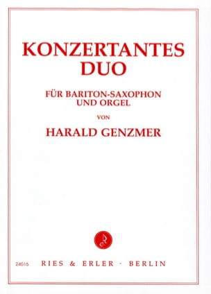 Konzertantes Duo Harald Genzmer Partition Saxophone - laflutedepan