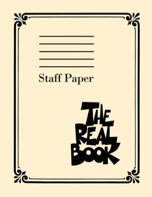 The Real Book: Staff Paper Papier Bloc musique - laflutedepan