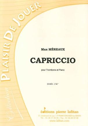 Capriccio Max Méreaux Partition Trombone - laflutedepan