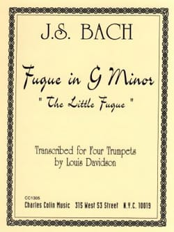 Fugue in G Minor BACH Partition Trompette - laflutedepan