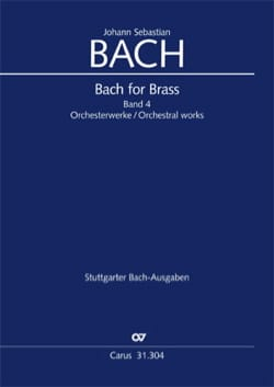 Bach for brass Band 4 - Orchesterwerke BACH Partition laflutedepan