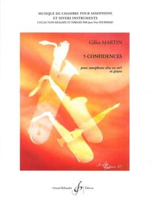 5 Confidences Gilles Martin Partition Saxophone - laflutedepan