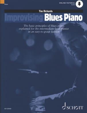 Improvising Blues Piano Tim Richards Partition Jazz - laflutedepan