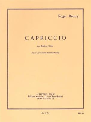 Capriccio Roger Boutry Partition Trombone - laflutedepan