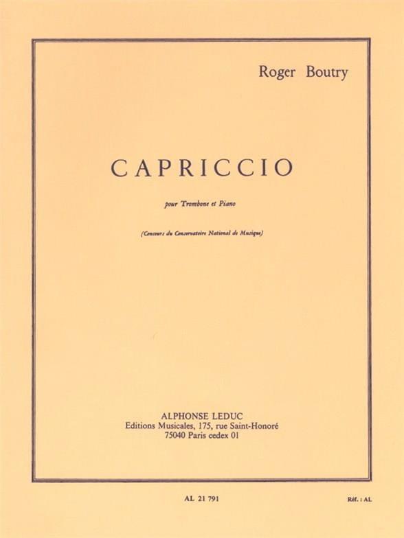 Capriccio - Roger Boutry - Partition - Trombone - laflutedepan.com