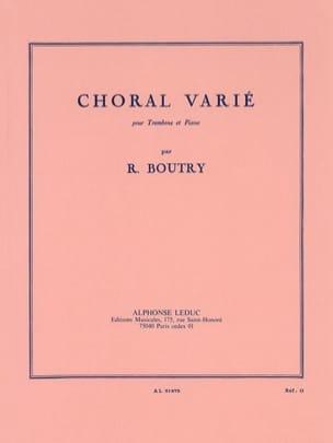 Choral Varié Roger Boutry Partition Trombone - laflutedepan