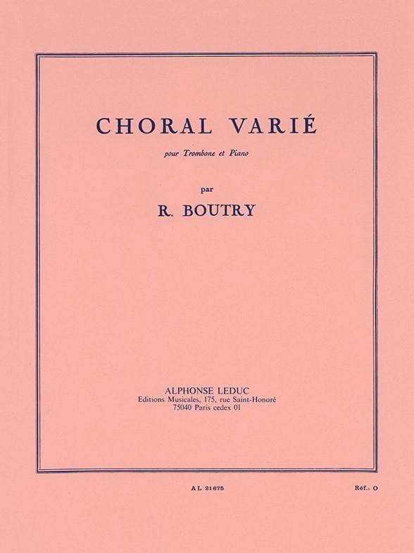 Choral Varié - Roger Boutry - Partition - Trombone - laflutedepan.com