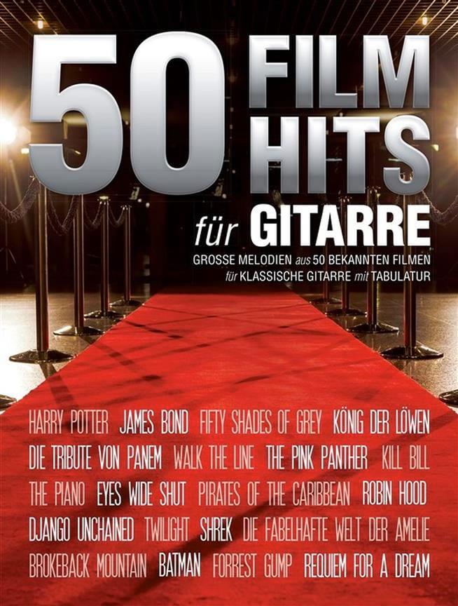 50 Film Hits pour Guitare - Partition - Guitare - laflutedepan.com