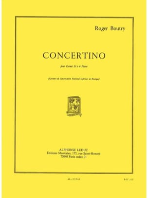 Concertino Roger Boutry Partition Trompette - laflutedepan