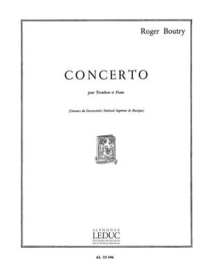 Concerto Roger Boutry Partition Trombone - laflutedepan