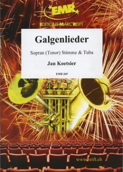 Galgenlieder Jan Koetsier Partition Tuba - laflutedepan
