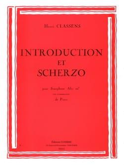 Introduction et Scherzo CLASSENS Partition Saxophone - laflutedepan