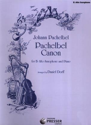 Pachelbel Canon PACHELBEL Partition Saxophone - laflutedepan