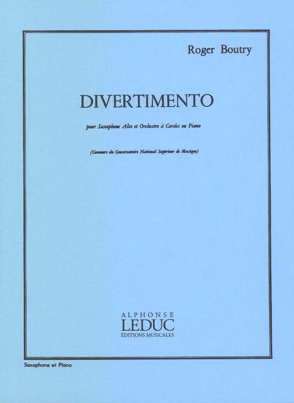 Divertimento - Roger Boutry - Partition - Saxophone - laflutedepan.com