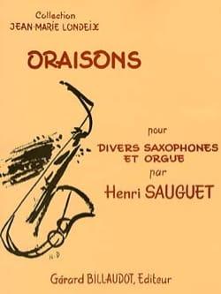 Oraisons Henri Sauguet Partition Saxophone - laflutedepan