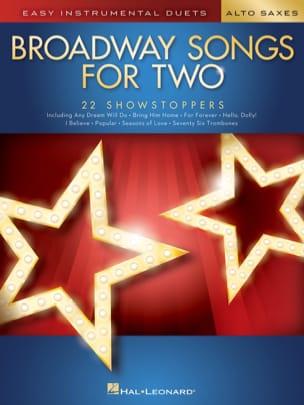 Broadway Songs for Two Alto Saxophones Partition laflutedepan