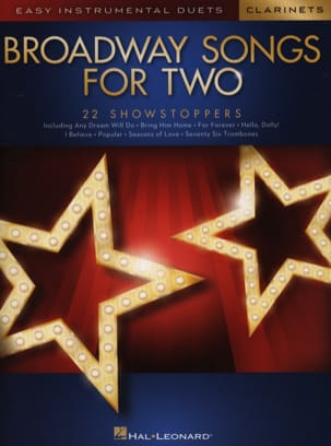 Broadway Songs for Two Clarinets Partition Clarinette - laflutedepan