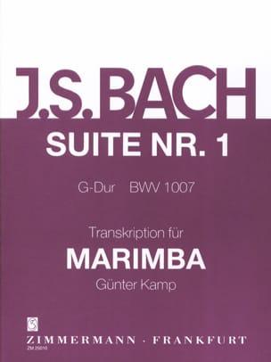 Suite N° 1 G-Dur BWV 1007 BACH Partition Marimba - laflutedepan