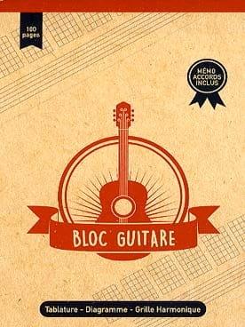 Bloc Guitare - Format A5 Cahier de Musique Papier laflutedepan